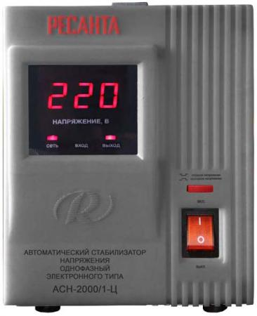 Стабилизатор напряжения Ресанта АСН-2000/1-Ц серый стабилизатор напряжения ресанта асн 2000 1 ц
