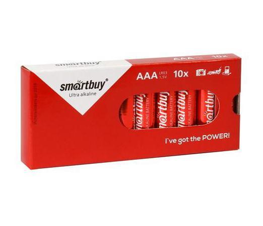 Батарейки Smartbuy SBBA-3A10BX AAA 10 шт батарейки smart buy sbba 2a24s aa 24 шт