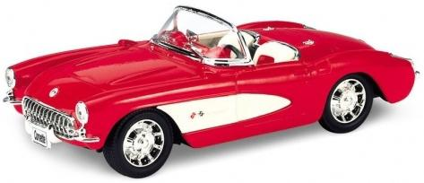 Автомобиль Welly Chevrolet Corvette 1957 1:34-39 игрушка maisto 1957 chevrolet bel air 81302