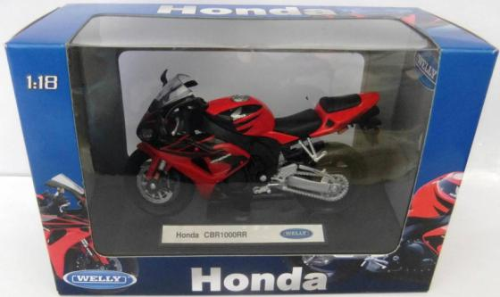 Мотоцикл Welly Honda CBR1000RR 1:18 12819P мотоцикл welly honda gold wing 1 18 12148p