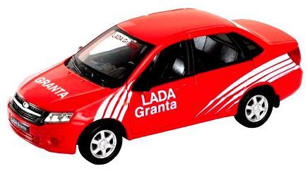 Автомобиль Welly Lada Granta - Rally 1:34-39 красный 43657RY welly lada 4х4 rally 1 34 39