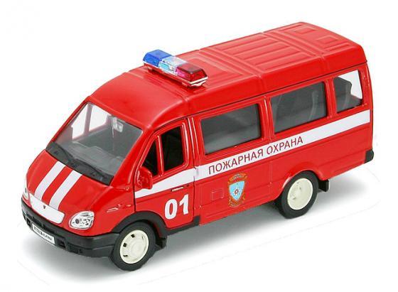Пожарная охрана Welly Газель 1:34 welly welly набор служба спасения пожарная команда 4 штуки