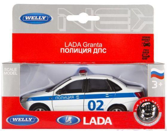 Полиция Welly Lada Granta 1:34-39 игрушка welly lada granta
