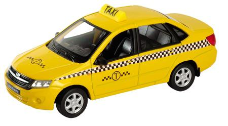 Такси Welly Lada Granta 1:34-39 welly 43657ti модель машины 1 34 39 lada granta такси