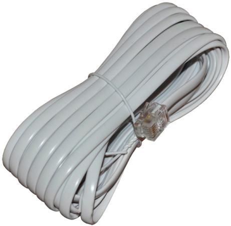 Удлинитель телефонный REXANT 5м белый 18-3051 рулетка rexant профи 5м 12 9005