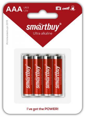 Батарейки Smartbuy SBBA-3A04B AAA 4 шт батарейки smartbuy sbbz 3a04b aaa 4 шт