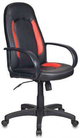 Кресло Бюрократ CH-826/B+R искусственная кожа черно-красный кресло руководителя бюрократ ch 826 b bl