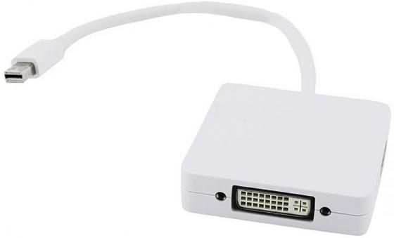 Переходник mini DisplayPort M-HDMI+DVI+DP/F 5bites AP-012 аксессуар 5bites mini displayport m hdmi dvi dp f ap 012