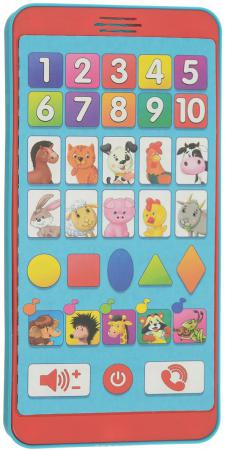 Интерактивная игрушка Азбукварик Умный смартфончик от 3 лет красный 059-8 азбукварик смартфончик чьи домишки чьи детишки