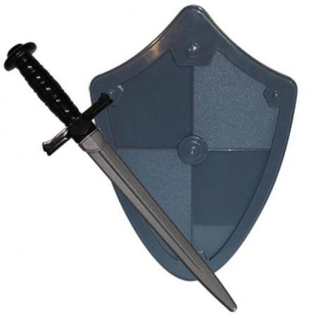 Набор Пластмастер Рыцарь (меч+щит) серый 50031 пластмастер игрушечный набор монтажник
