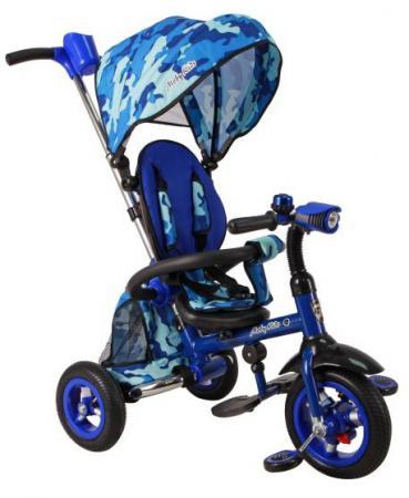 Велосипед трехколёсный Moby Kids Junior-2 синий T300-2Army велосипед трехколёсный moby kids junior 2 10 8 красный t300 2