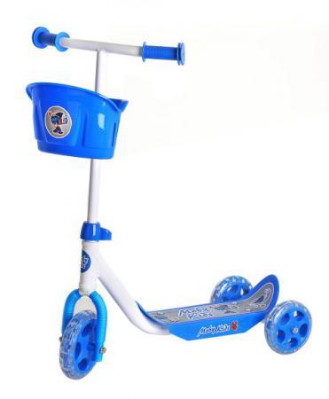 Самокат трехколёсный Moby Kids Кроха синий 64640 самокат трехколёсный impulse sa sa1702 blue 120 80 мм синий sa1702