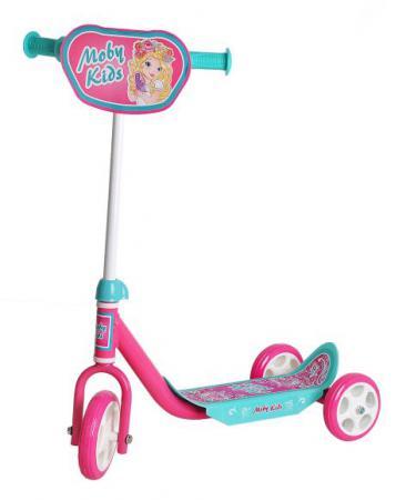 Самокат трехколёсный Moby Kids Мечта розовый 64637 самокат трехколесный moby kids мечта 64638
