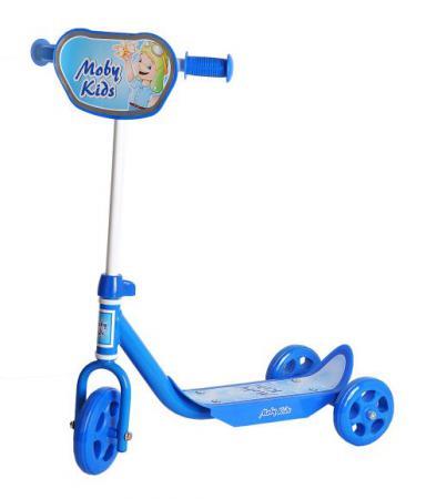 Самокат трехколёсный Moby Kids Мечта синий 64638 moby kids для прыжков со звуком красный
