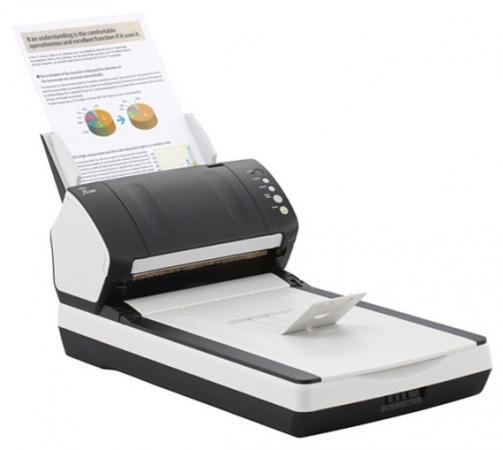 Фото - Сканер Fujitsu fi-7240 протяжный А4 600x600 dpi CCD 40ppm USB бело-черный PA03670-B601 диван угловой мебелико атлантис эко кожа бело черный левый