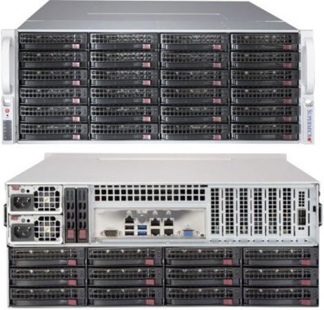 лучшая цена Серверный корпус 4U Supermicro CSE-847BE1C-R1K28LPB 1280 Вт чёрный