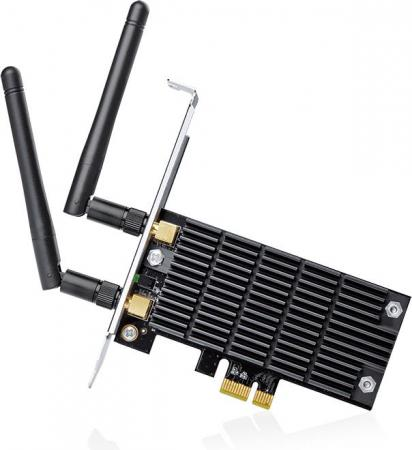 Беспроводной PCI Express-адаптер TP-LINK Archer T6E AC1300 802.11a/b/g/n/ac 867Mbps 2.4/5ГГц fenvi new 802 11ac 867mbps wireless ac 8260 pci express pci e desktop wifi adapter bluetooth 4 2 for intel 8260ngw ac wlan card