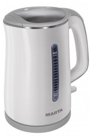 Чайник Marta MT-1065 1700 Вт 1.7 л металл/пластик белый серый