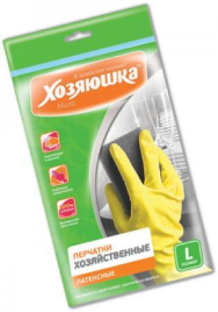 Перчатки хозяйственные латексные Хозяюшка Мила L 17003 перчатки хозяйственные хозяюшка мила латексные размер м