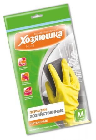 Перчатки хозяйственные латексные Хозяюшка Мила M 17002 перчатки хозяйственные хозяюшка мила латексные размер м