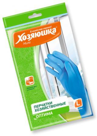 Перчатки хозяйственные оптима Хозяюшка Мила L 17024 перчатки хозяйственные оптима хозяюшка мила m 17023