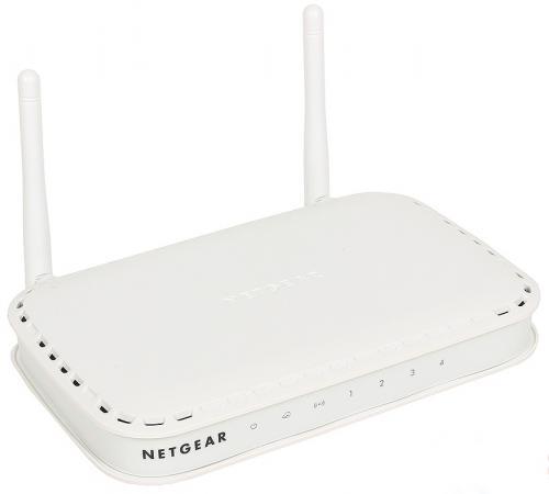 Беспроводной маршрутизатор NETGEAR WNR614-100PES 802.11n 300Mbps 2.4ГГц 4xLAN белый беспроводной маршрутизатор netgear d1500 100pes 802 11n 300mbps 2xlan