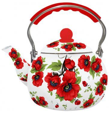 Чайник Zeidan Z-4114-02 2.5 л нержавеющая сталь рисунок красный чайник zeidan z 4110 2 7 л нержавеющая сталь серебристый