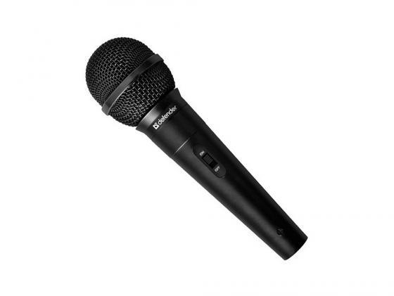 Микрофон DEFENDER MIC-130 динамический для караоке 5м 72дБ черный 64131 микрофон defender mic 109 черный кабель 1 8м 64109