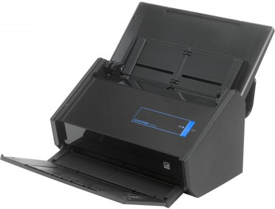 Сканер Fujitsu ScanSnap iX500 протяжный А4 600x1200 dpi CIS 25ppm USB Wi-Fi черный PA03656-B001/PA03656-B301 сканер проекционный a3 fujitsu scansnap sv600