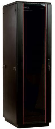 Шкаф напольный 42U ЦМО ШТК-М-42.6.10-1ААА-9005 600x1000mm дверь стекло черный