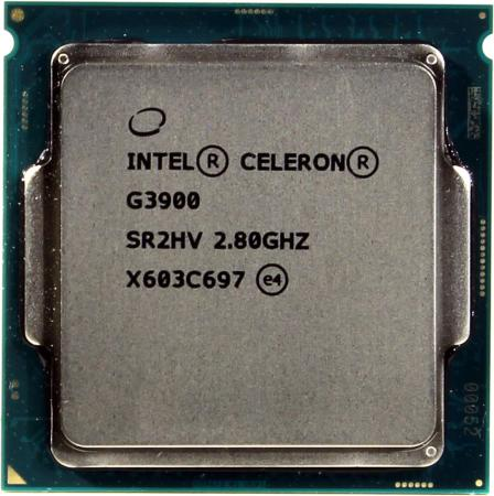 Процессор Intel Celeron G3900 2.8GHz 2Mb Socket 1151 OEM процессор intel celeron g4920 3 2ghz 2mb socket 1151 oem