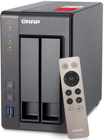 Сетевое хранилище QNAP TS-251+-2G 2x3.5/2.5HDD рэковое сетевое хранилище rack nas qnap ts 451a 2g ts 451a 2g