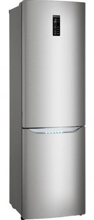 Холодильник LG GA-B489SMQZ серебристый холодильник lg ga b489yaqz серебристый