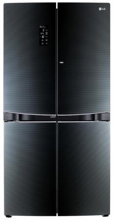 Холодильник LG GR-D24FBGLB черный купить холодильник toshiba gr rg59rd gu