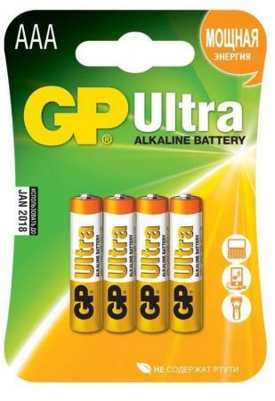 Батарейки GP Ultra Alkaline AAA 4 шт 24AU-U4 батарейки gp ultra alkaline 24au ft aaa 8 шт фонарик