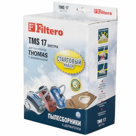 Пылесборники Filtero TMS 17 Стартовый пятислойные 2шт+фильтр filtero tms 17 2 1 стартовый