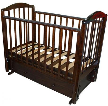 Кроватка с маятником Красная Звезда Руслан (шоколад/резьба №18) обычная кроватка красная звезда виталина 851 шоколад