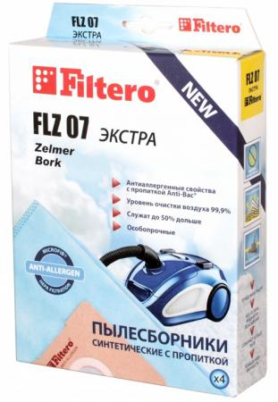 Пылесборники Filtero FLZ 07 Экстра пятислойные 4шт мешок пылесборник filtero flz 05 экстра