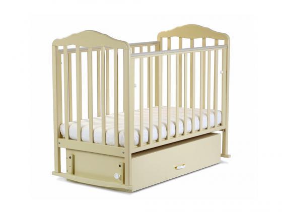 Кроватка с маятником СКВ Березка (бежевый/172009) кроватка ковчег скв 9 94003x