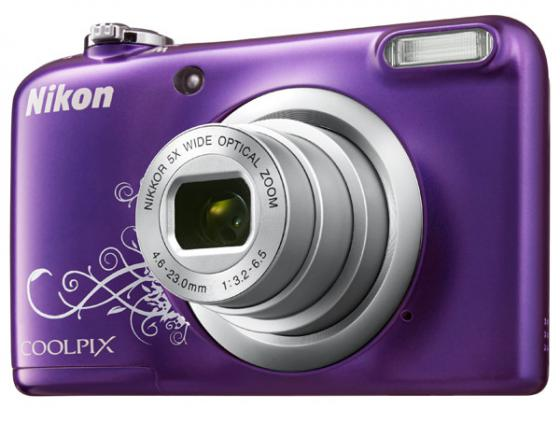 Фотоаппарат Nikon Coolpix A10 16Mp 5x Zoom пурпурный фотоаппарат nikon coolpix a10 purple purple lineart 16mp 5x zoom sd usb 2 7