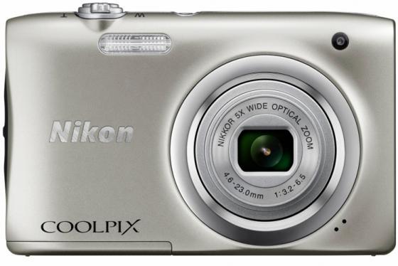 Фотоаппарат Nikon Coolpix A100 20Mp 5x Zoom серебристый