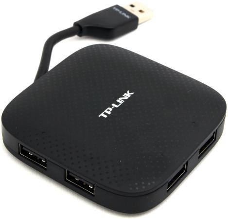 Концентратор USB 3.0 TP-LINK UH400 4 х USB 3.0 черный концентратор usb 3 0 tp link uh720 7 x usb 3 0 черный