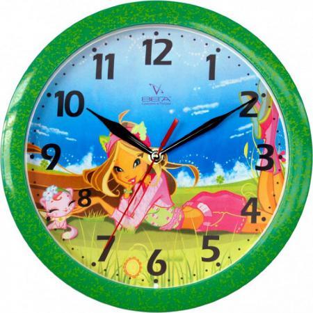 Часы настенные Вега Фея на природе (П 1-322/7-2) рисунок вега вега п 2 7 7 3