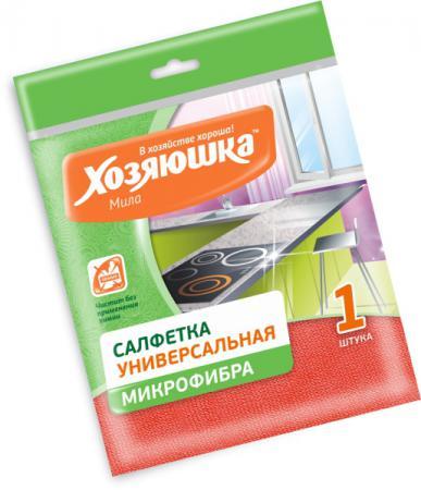 Салфетка для уборки ХОЗЯЮШКА Мила микрофибра 04006 цена