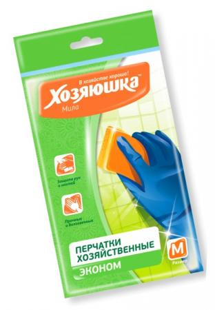 Перчатки латексные эконом Хозяюшка Мила M 17019 хозяюшка мила перчатки хозяйственные латексные размер l