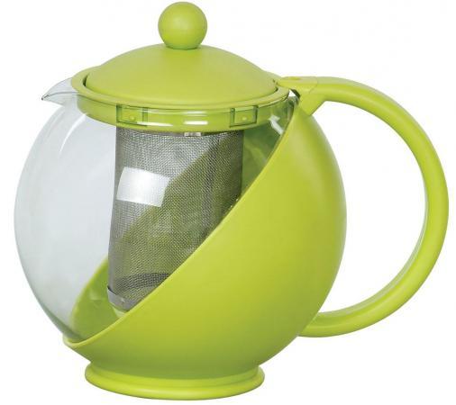 Чайник заварочный Bekker BK-301 1.25 л пластик/стекло чайник заварочный bekker 303 вк 0 9 л металл пластик серебристый