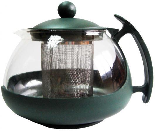 Чайник заварочный Bekker BK-307 0.75 л пластик/стекло чайник заварочный bekker 308 вк фиолетовый 1 25 л пластик стекло