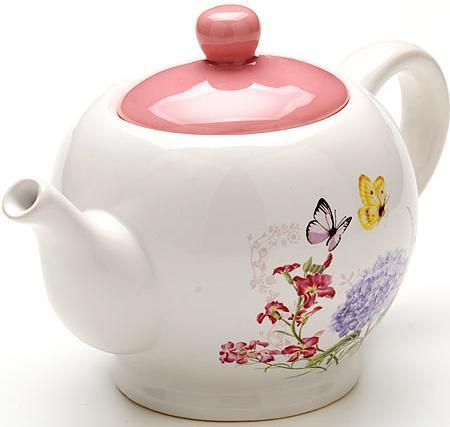 Чайник заварочный Loraine LR-25637 0.95 л керамика белый чайник заварочный loraine lr 25637 0 95 л керамика белый