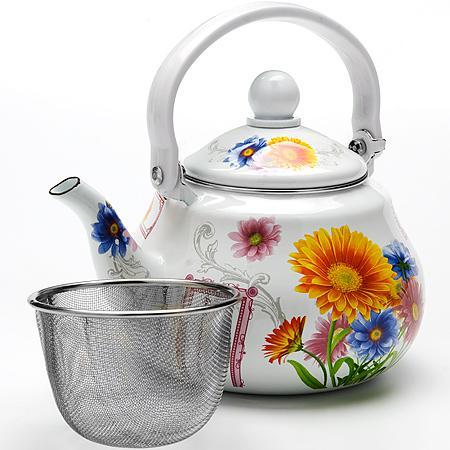 Чайник заварочный Mayer&Boch Подсолнух МВ-23983 1.5 л металл рисунок заварочный чайник 1 5 л mayer and boch подсолнух mb 23983