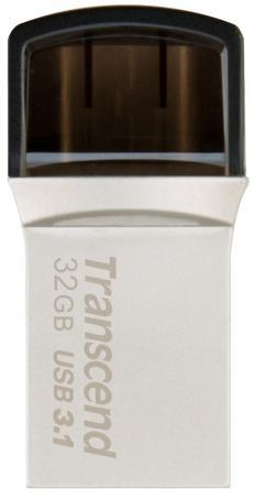 Флешка USB 32Gb Transcend JetFlash 890 TS32GJF890S серебристый usb флешка transcend 780 8gb ts8gjf780